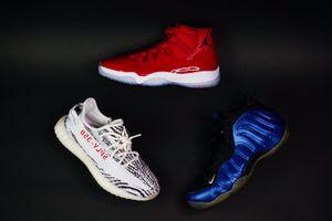 Jordan size 9.5 yeezy size 9 foams size 9 for Sale in NJ, US