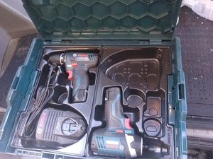 Bosch Power Tools Combo Kit 12-Volt Cordless Tool Set (Drill/Driver and Impact Driver) Charger and hardCase for Sale in San Diego, CA
