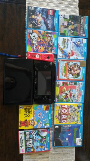 Nintendo Wii U Console with 10 Games for Sale in HOFFMAN EST, IL