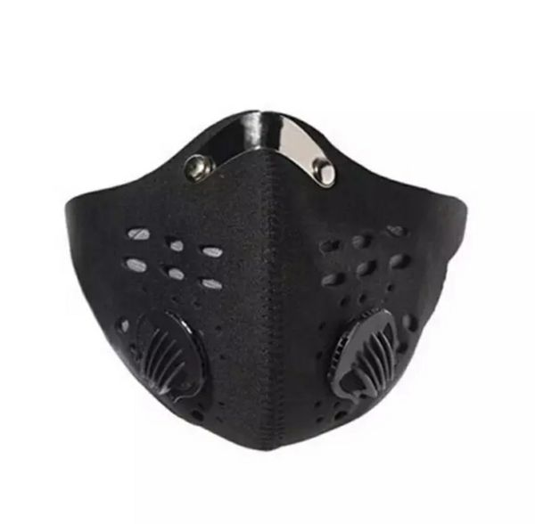 3 (Black) (Washable) Anti-Dust/Anti-Fogging Mask/Face Cover - Training, Hiking, Gym, Jogging, Outdoor, Motorcycle, Work