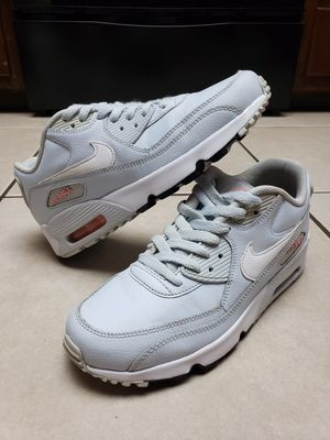 Womens Nike Air Max 90 Blue/White Size 8.5 (6y) for Sale in Phoenix, AZ