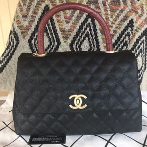 Black Chanel red handle bag for Sale in South Gate, CA