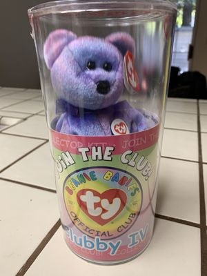 Ultra rare Clubby IV beanie baby Mystery Button for Sale in Carmichael, CA