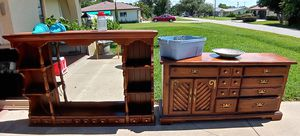 Vintage bar / dresser w/ mirror & shelf top for Sale in Venice, FL
