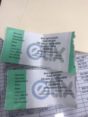 Kane brown tickets for Sale in North Chesterfield, VA