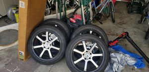 """4 18"""" (5 Lugged) Rims with Tires for Sale in Tampa, FL"""