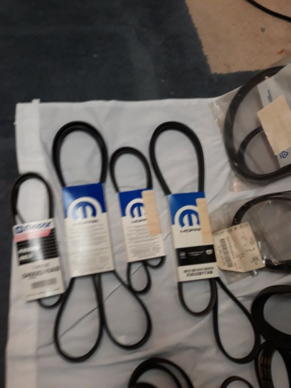 Mopar and Gates Serpentine and fan belts New Old Stock