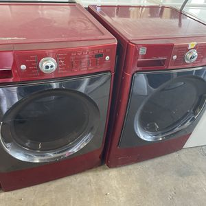 Kenmore Elite Red Washer And Gas Dryer Set for Sale in Stockton, CA