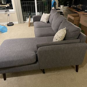 Gray Left Side Sectional Couch for Sale in Seattle, WA
