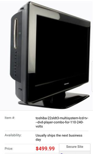Rv Campers TOSHIBA 22SLDT3 MULTISYSTEM LCD TV & DVD PLAYER COMBO for Sale in Deltona, FL