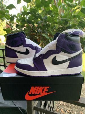 Jordan 1 Court Purple Size 10 for Sale in Monterey Park, CA