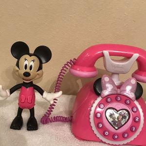 Disney Junior Minnie's Happy Helpers 3D Phone w/Lights, Sounds and Minnie Movable Arms & Head Figurine. for Sale in Clermont, FL