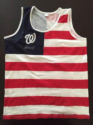 Washington Nationals Patriotic Tank Top SGA 6/14 Flag Day New Size XL for Sale in Clifton, VA