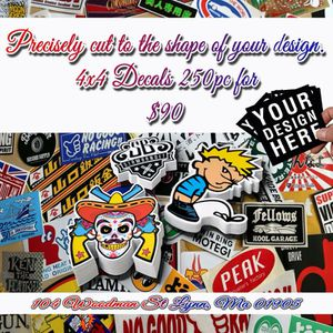 250 Decals for $90 customize with your logo for Sale in Boston, MA