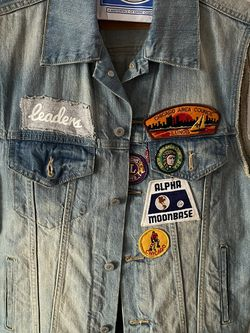 Custom Made Chicago Leaders/Levi Denim Vest for Sale in Chicago,  IL