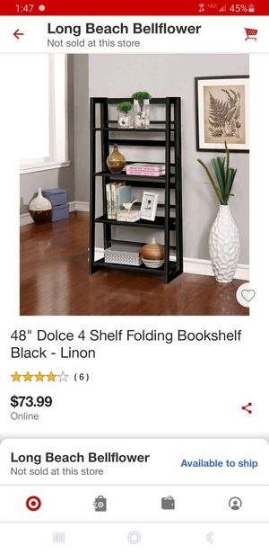 Get two for the price of one! Two folding bookshelves, great condition. Originally bought at target. for Sale in Long Beach, CA