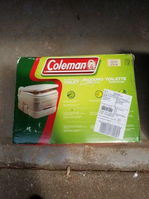 Coleman Portable Flushable Toilet (Clean) for Sale in Newport, ME
