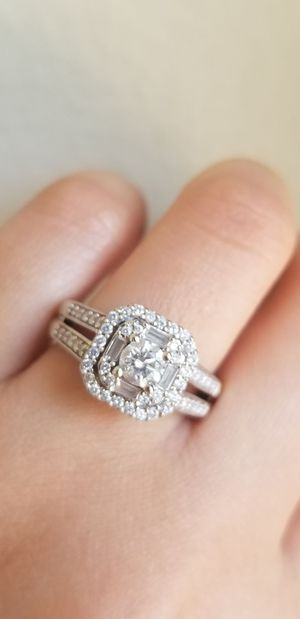 7/8 carat diamond ring with 14k white gold for Sale in Portland, OR