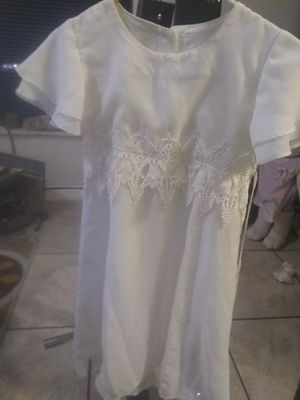 Size 8 white dress for Sale in Winter Haven, FL