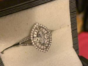Diamonds 14k white gold ring for Sale in Crete, IL