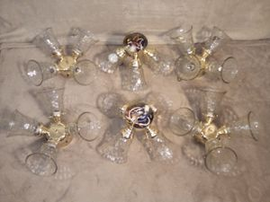 Hampton Bay 4 light ceiling fan lights brass for Sale in Pittsburgh, PA