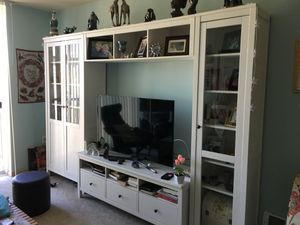 IKEA Hemnes TV wall combo storage unit with bookshelves. for Sale in Seattle, WA