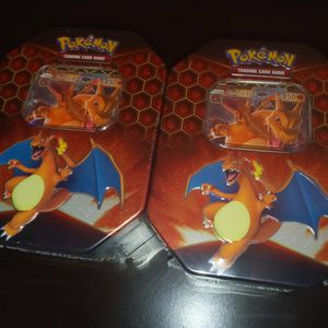 Pokemon Cards - Lot Of 2 Hidden Fates Charizard Tins - Shiny Charizard Inside? for Sale in Mableton, GA