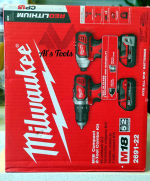Milwaukee M18 compact drill set for Sale in Paramount, CA