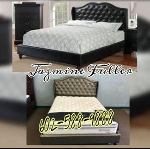 Full size platform bed frame COLOR CHOICE for Sale in Glendale, AZ