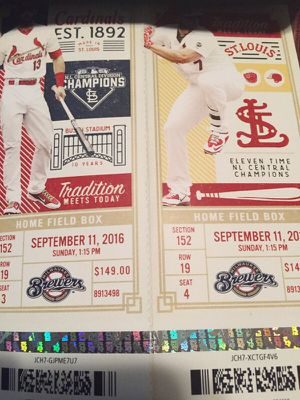 Tickets for sale 9/11/16 $ 150 for Sale in Wentzville, MO
