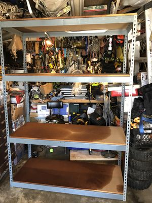 Heavy duty metal storage rack $120 for Sale in Chino, CA