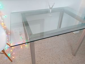 Modern Aluminum and Glass Table for Sale in Palm Beach Shores, FL