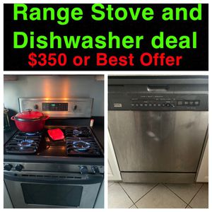 Range Stove and Dishwasher $350 or BEST OFFER for Sale in Philadelphia, PA