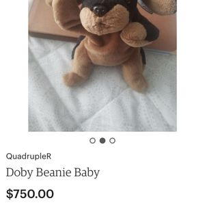 Doby Ty Beanie Baby Mint Condition $150 obo for Sale in Pompano Beach, FL