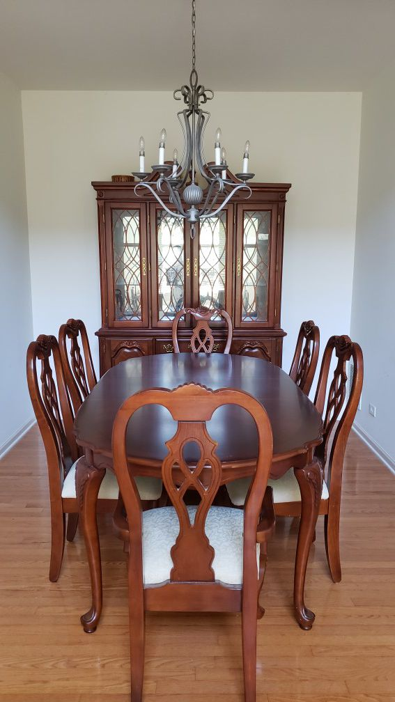 Wakefield Formal Dining Set - $700  pre-owned  with complete set of chairs and a China cabinet