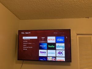 TCL 55' ROKU Smart TV for Sale in Wenatchee, WA