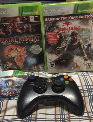 XBOX 360 GAMES AND CONTROLLER for Sale in San Antonio, TX