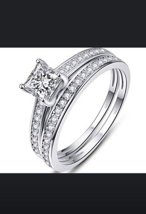 Sterling Silver Wedding Band Solitare Engagement & Promise Ring for Sale in Irvine, CA