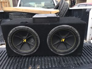 12 inch kickers competition with amplifier asking $200( I can drop off ASAP) for Sale in Salinas, CA