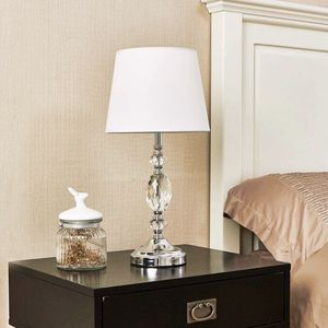 Crystal Table Lamp With Fabric Shade - New! for Sale in Plainfield, IL