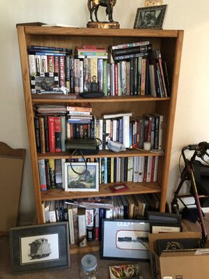 Two Solid Oak Matching Bookshelves for Sale in Fontana, CA