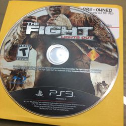 Ps3 The Fight Lights Out for Sale in Hialeah,  FL