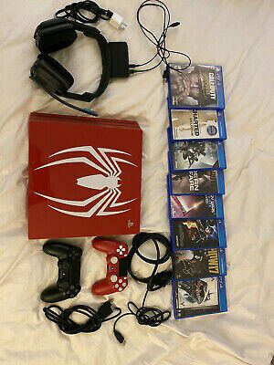 PS4 Pro Spider-Man Edition with Custom 2TB HD + Astro A20 Headphones *RARE* for Sale in Houston, TX