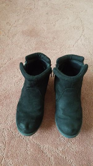 Little girl's black booties boots sz 12 for Sale in Ontario, CA