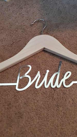Wedding dress wood bride hanger for Sale in Murrieta, CA