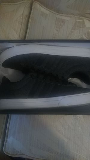 Casual adidas size 10 1/2 gray , black , white for Sale in Lakewood, OH