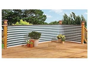 15 Feet Privacy Screen Fence Brown and White Stripes, For Outdoor Backyard, Patio for Sale in Corona, CA
