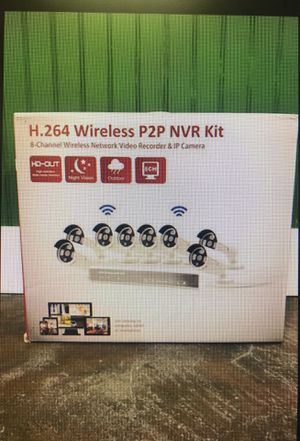 H.264 Wireless P2P NVR Kit security system 8 channel for Sale in Tacoma, WA
