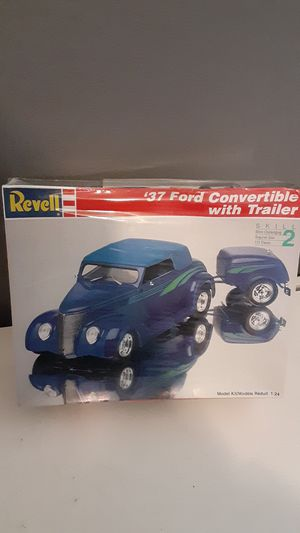 37 ford convertible with trailer/model cars/model kits/37 ford/hot rod/classic cars/revell kits for Sale in Riverside, CA