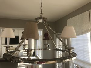 6-Light Brushed Nickel Chandelier for Sale in Sterling, VA